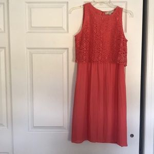 Coral Loft dress. Worn once! Perfect condition!